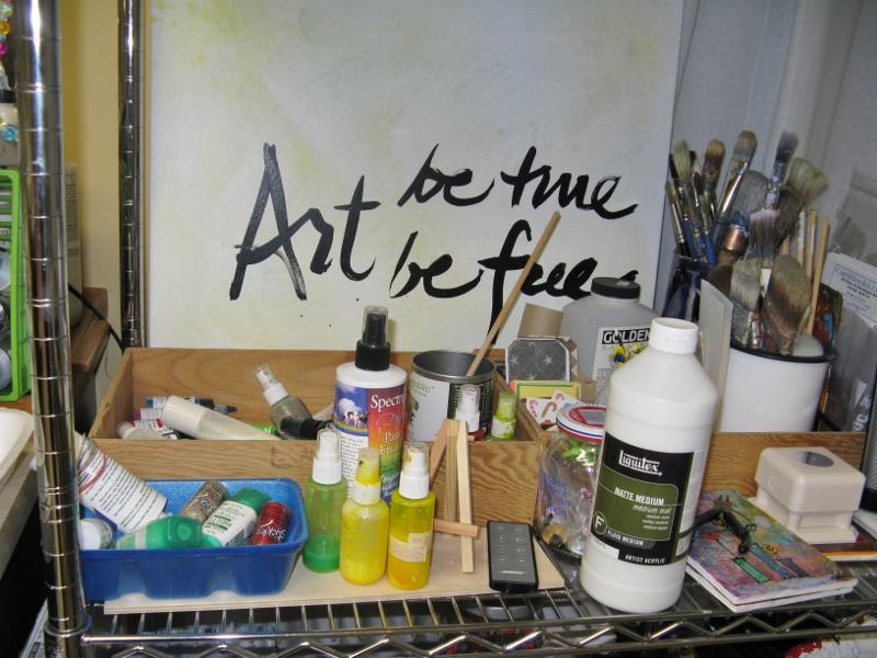 studio shelf - Jan.2014